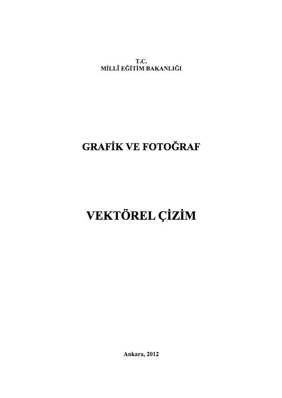 Vektörel Çizim ders notu pdf