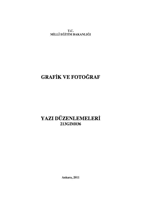 Yazı Düzenlemeleri ders notu pdf