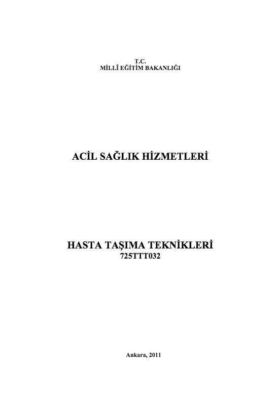 Hasta Taşıma Teknikleri ders notu pdf