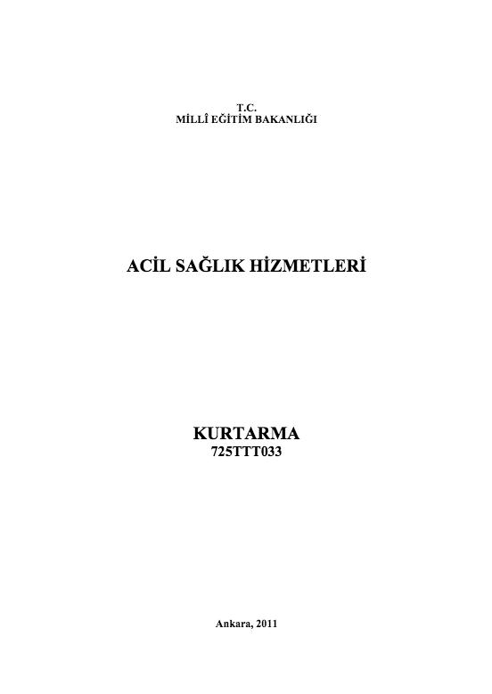 Kurtarma ders notu pdf
