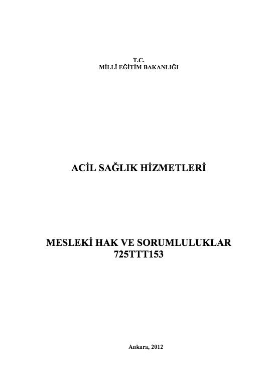 Mesleki Hak Ve Sorumluluklar ders notu pdf