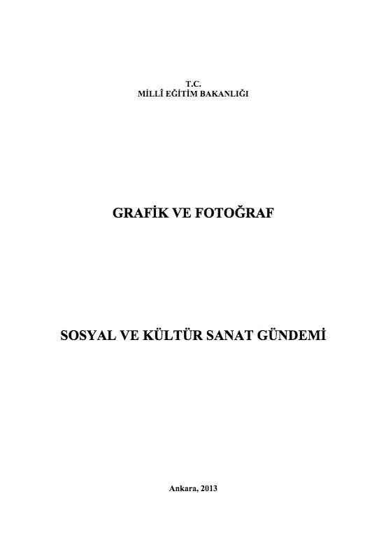 Sosyal ve Kültür Sanat Gündemi ders notu pdf
