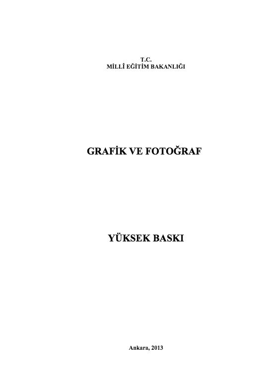 Yüksek Baskı ders notu pdf