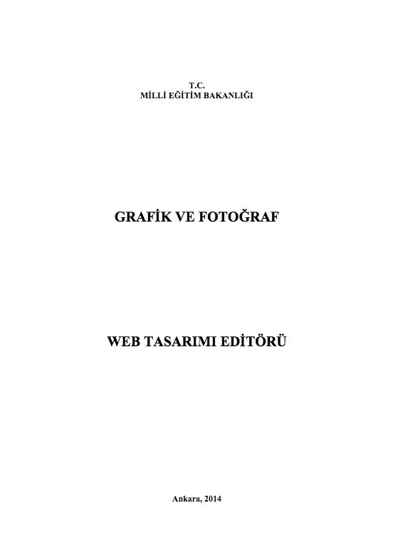 Web Tasarım Editörü ders notu pdf