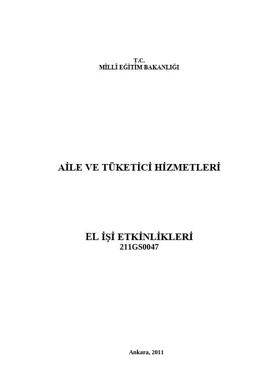 Elişi Etkinlikleri ders notu pdf