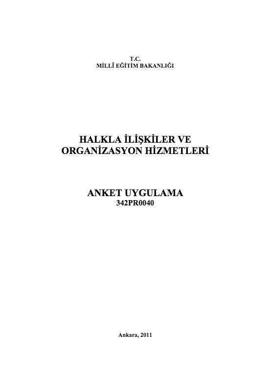 Anket Uygulama ders notu pdf