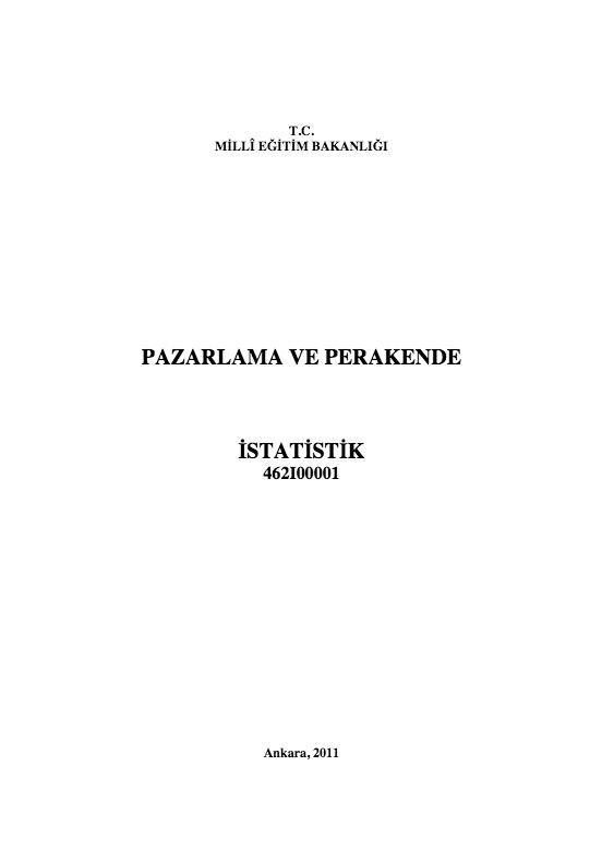 İstatistik ders notu pdf