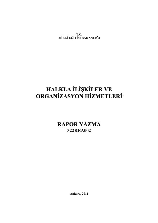 Rapor Yazma ders notu pdf