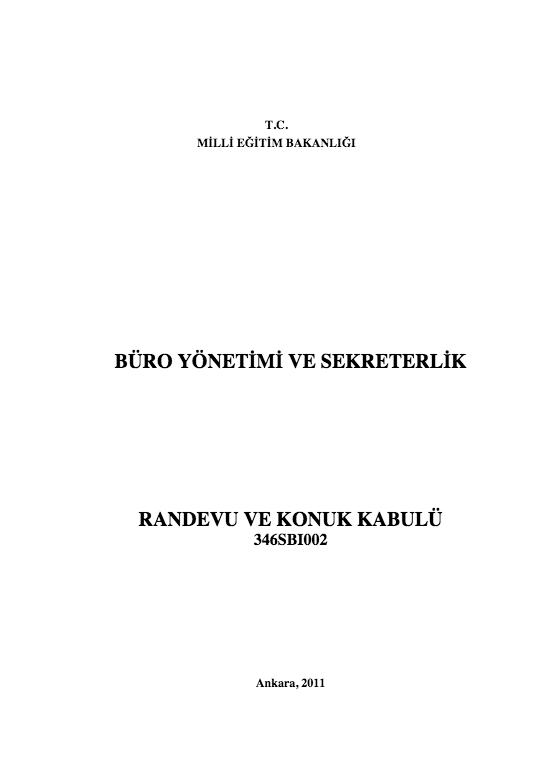 Randevu Ve Konuk Kabulü ders notu pdf