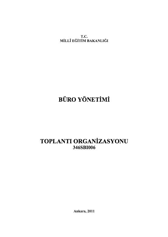 Toplantı Organizasyonu ders notu pdf