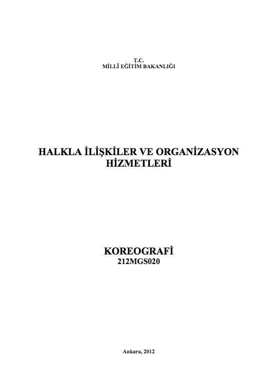 Koreografi ders notu pdf