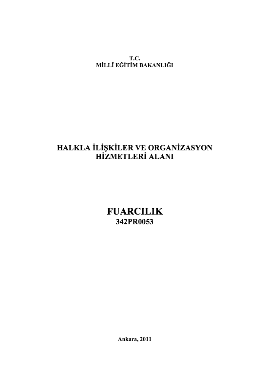 Fuarcılık ders notu pdf
