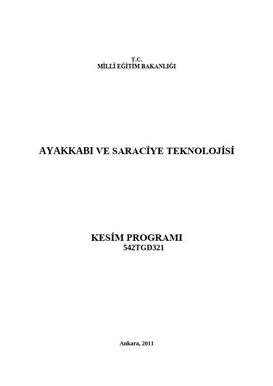 Kesim Programı ders notu pdf