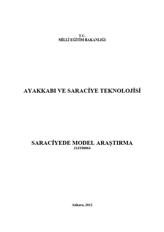 Saraciye Model Araştırma