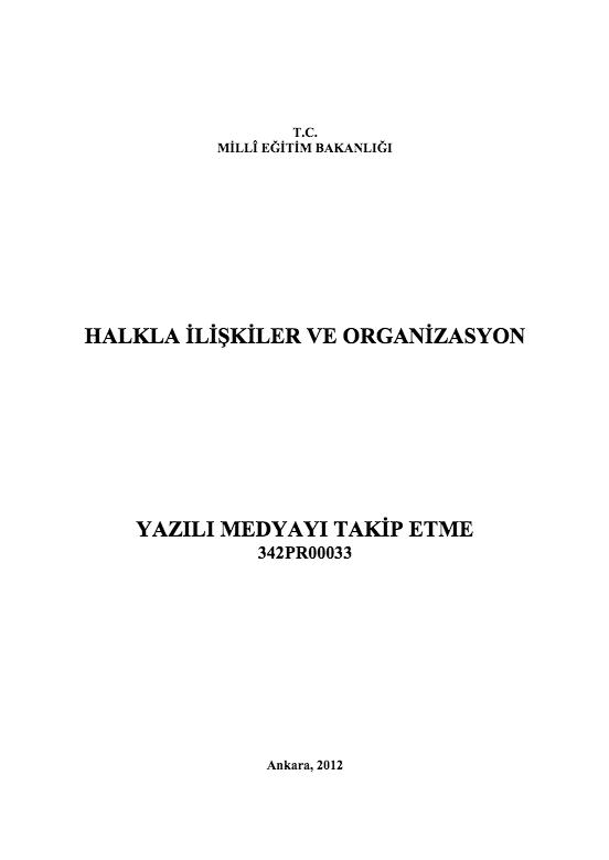 Yazılı Medyayı Takip Etme ders notu pdf