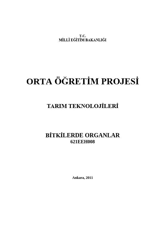 Bitki Organları