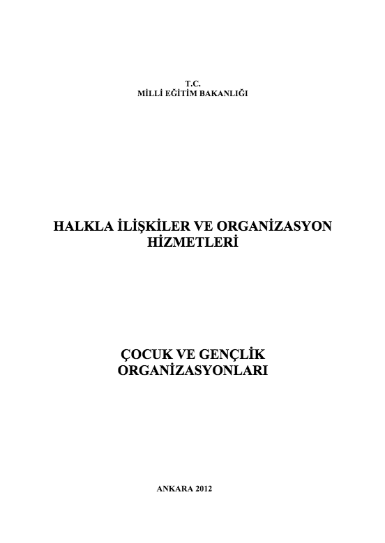 Çocuk Ve Gençlik Organizasyonları