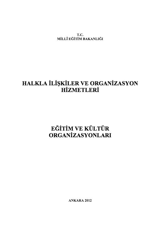 Eğitim Ve Kültür Organizasyonları