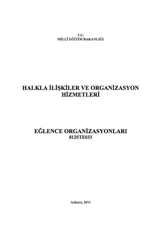 Eğlence Organizasyonları