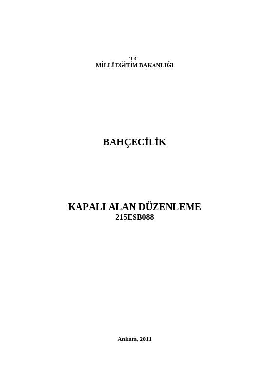 Kapalı Alan Düzenleme ders notu pdf