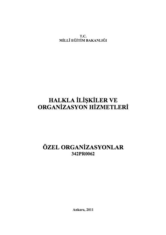 Özel Organizasyonlar