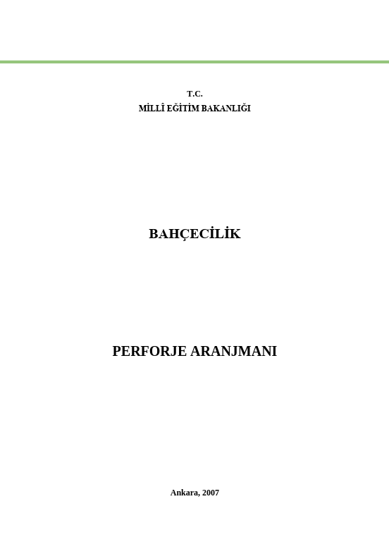 Perforje Aranjmanı ders notu pdf