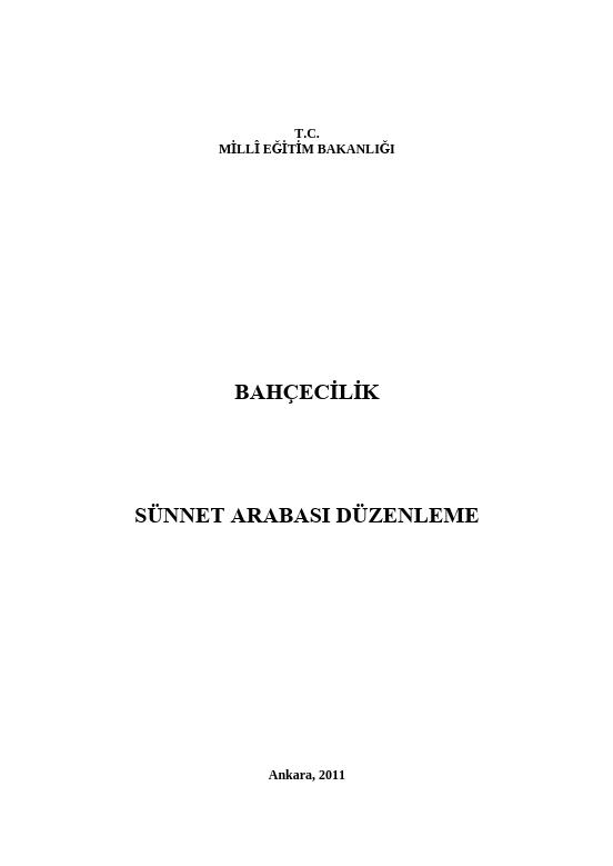 Sünnet Arabası Düzenleme ders notu pdf