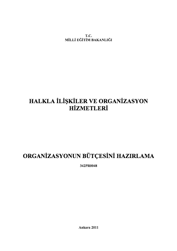 Organizasyonun Bütçesini Hazırlama