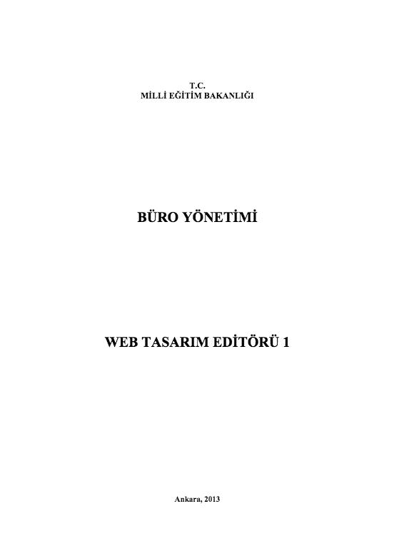 Web Tasarımı Editörü-1
