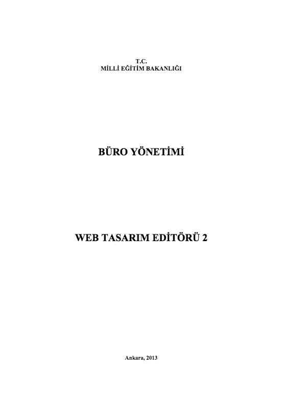 Web Tasarımı Editörü-2