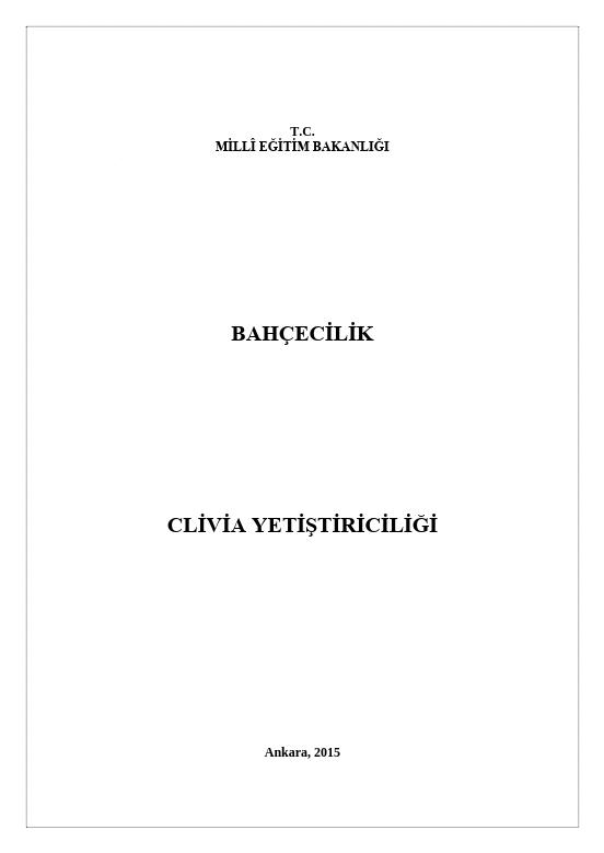 Clivia Yetiştiriciliği