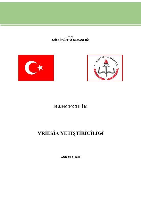 Vriesia Yetiştiriciliği ders notu pdf