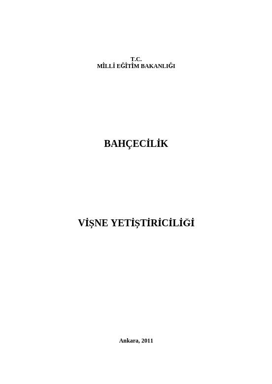 Vişne Yetiştiriciliği ders notu pdf
