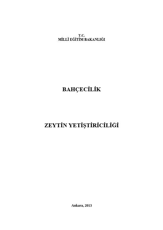 Zeytin Yetiştiriciliği ders notu pdf