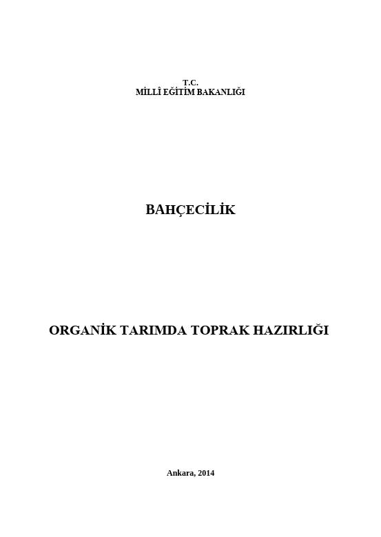 Organik Tarımda Toprak Hazırlığı Yapma