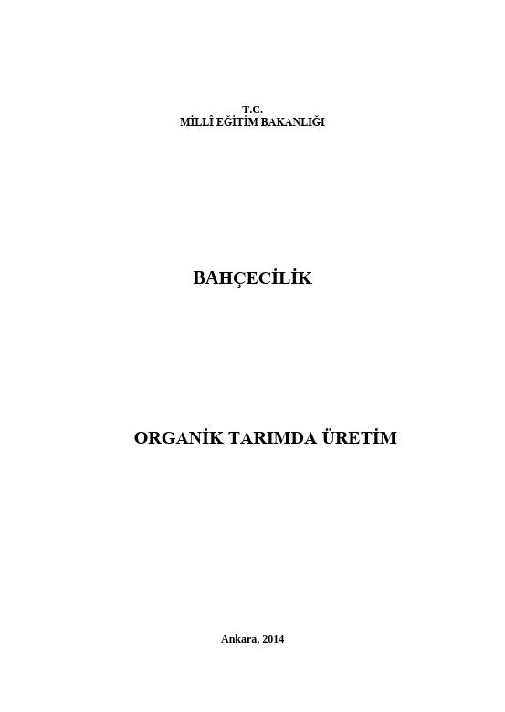 Organik Tarımda Üretim