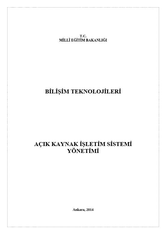 Açık Kaynak İşletim Sistemi Yönetimi