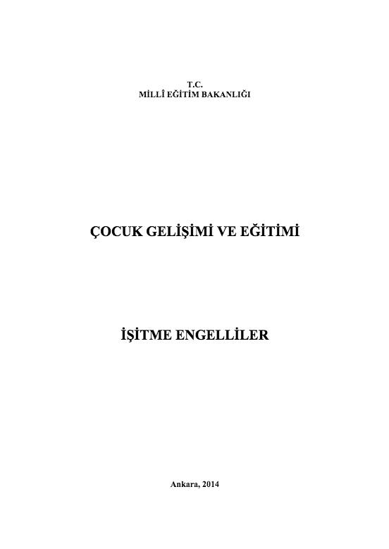 İşitme Engelliler ders notu pdf
