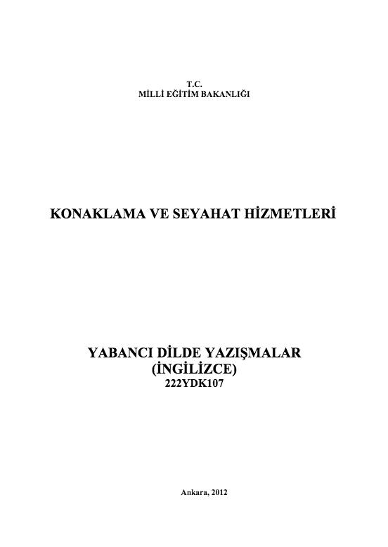 Yabancı Dilde Yazışmalar ders notu pdf