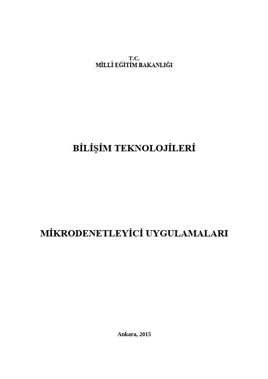 Mikrodenetleyici Uygulamaları