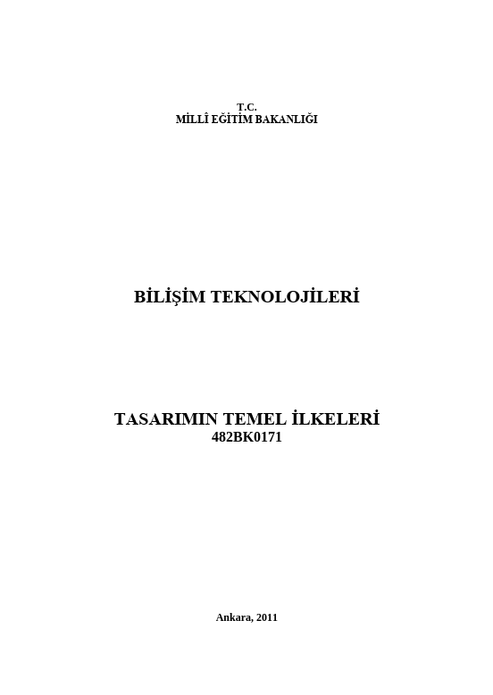Tasarımın Temel İlkeleri ders notu pdf