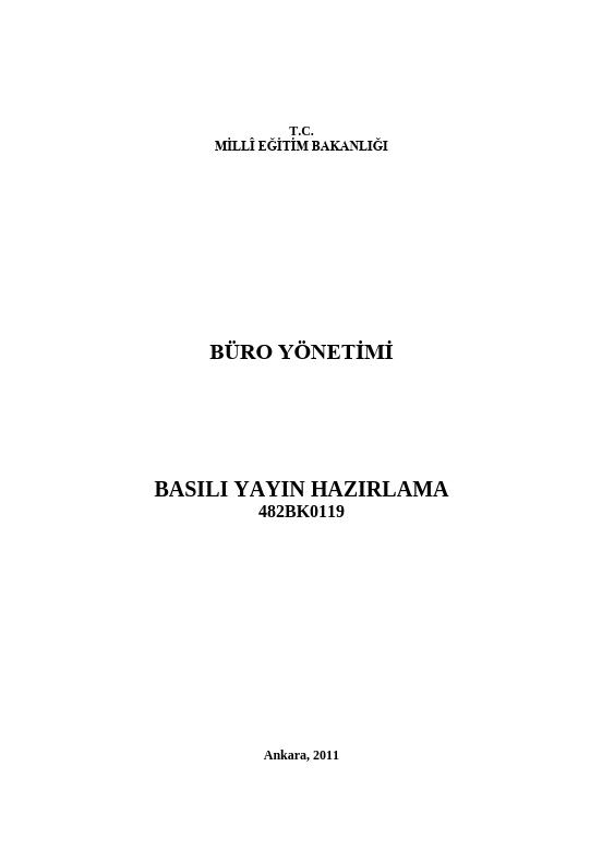 Basılı Yayın Hazırlama (publisher)