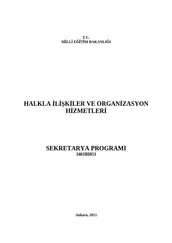 Sekreterya Programı