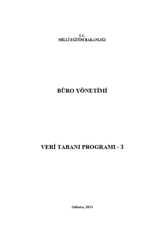 Veri Tabanı Programı- 3