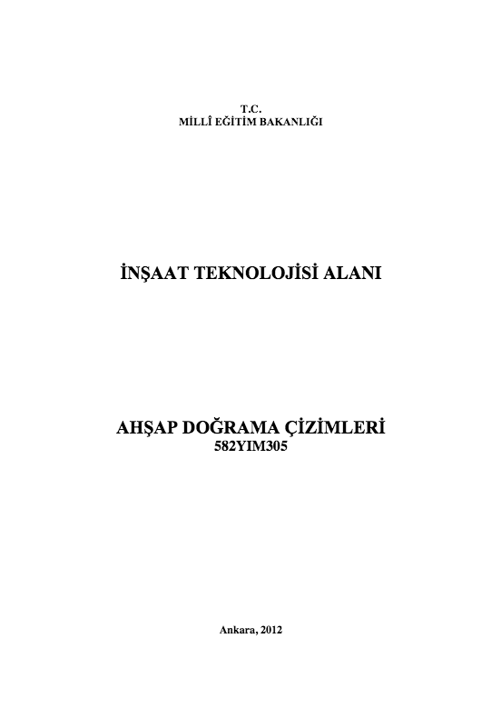 Ahşap Doğrama Çizimleri ders notu pdf