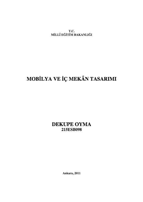 Dekupe Oyma