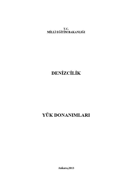 Yük Donanımları ders notu pdf