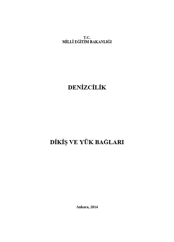 Dikiş Ve Yük Bağları ders notu pdf