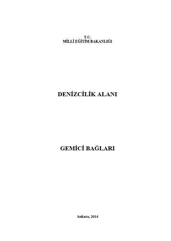 Gemici Bağları ders notu pdf
