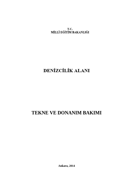 Tekne Ve Donanım Bakımı ders notu pdf